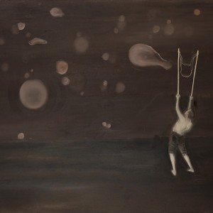 """רונן סימן-טוב, מפריח הבלונים, 2011, שמן על בד, 100*150 ס""""מ"""