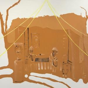 Sagie Azoulay, Ritual, 2014, oil and acrylic on canvas, 150x225 cm