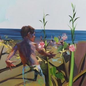 """Maya Israel, """"Days and Seas"""" #2, 2014, Oil on canvas, 100X130 cm"""