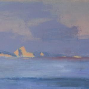 Judith Appleton, Iceberg memory, 2014, oil on paper mounted on wood, 40X30 cm