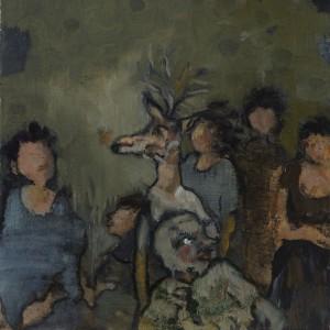 Meira Porath, Untitled, 2014, oil on wood, 20X20 cm