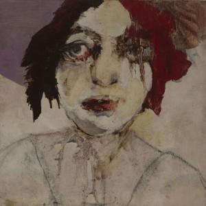 Meira Porat, Untitled, 2014, oil on wood, 30X30 cm