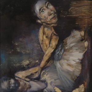 Meira Porath, Untitled, 2014, oil on wood, 40X40 cm