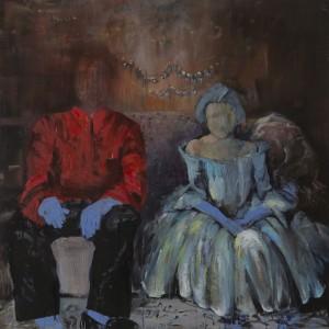Meira Porath, Untitled, 2014, oil on wood, 110X110 cm