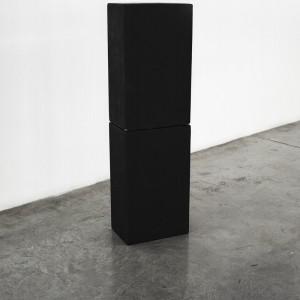 """עמוד שחור, 2014, הדפסת הזרקת דיו,  90 78X ס""""מ"""
