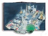 """ימימה ארגז, אסדה מס.15, 2010, שמן על עץ וחלקי מתכת, 15X22X3 ,2010 ס""""מ"""