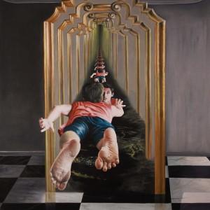 """נתנאל מורן, הקריאה, 2012, שמן על קנווס, 210X175 ס""""מ"""