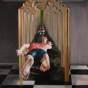"""נתנאל מורן, הקריאה, 2012, שמן על בד, 175X210 ס""""מ"""