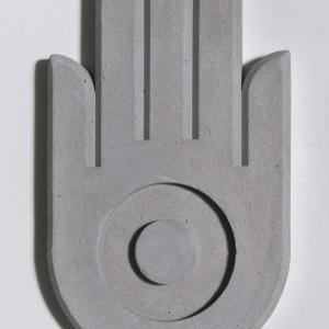 Hamsa, 2015, concrete, 32X22 cm
