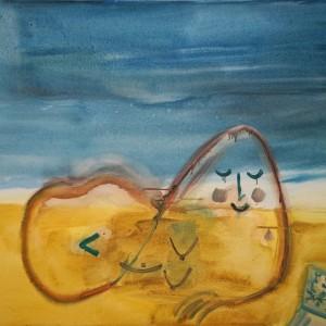 על החוף, 2015, אקריליק על בד