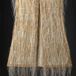 """""""Vest of Prayers"""" 2009, Japanese paper, prayer book pages and threads"""