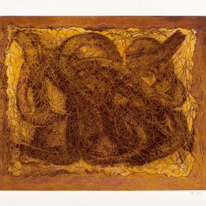 """זהב הרוח,2017, תחריט, 34x50 ס""""מ"""