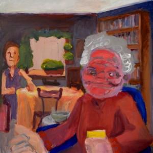 Ladies int he Livingroom, 2016, Acrylic on canvas