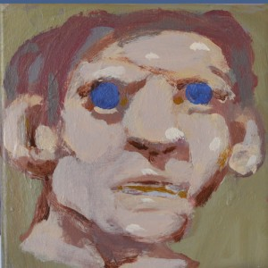 Untitled (Head with Blue Eyes), 2017, Acrylic on canvas