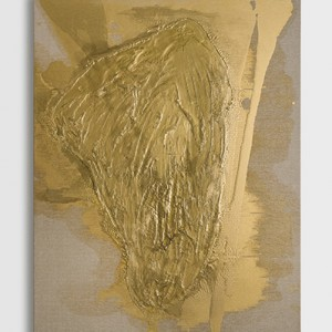 Leor Grady, Untitled (from the Gold Seas series), 2014, commercial paint on canvas, 120X90 cm