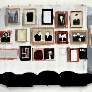 Ella Cohen-Vansover, Men, 2018, Acrylic on cardboard