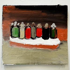 Ella Cohen Vansover, Ritual (from_Hakafot_Series), 2018, Acrylic on cardboard