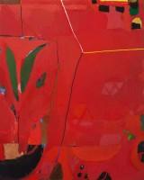 יערה אורן, כדים באדום, 2018, 150X120 סמ, שמן על בדYaara Oren, Jugs in red, 2018, 150x120 cm, oil on canvas