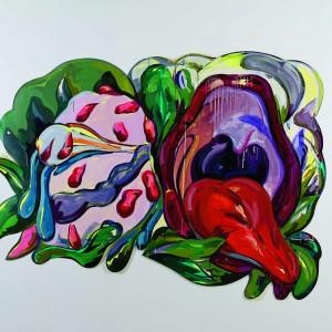 איל ששון, ללא כותרת, 2019, אקריליק על נייר חתוך Eyal Sasson, Untitled, 2019, acrylic on cut paper