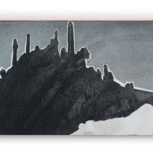 טליה ישראלי, ללא כותרת, 2020, טכניקה מעורבת על עץ, 22X40 Talia Israeli, Untitled, 2020, Mixed media on wood, 22x40
