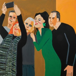 Oded Zaidel, Selfie, 2019, Acrylic on canvas. Photo: Michael Amar