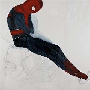 Hana  jaeger untitled 2015, graphite & oil on canvas